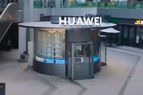 Huawei abre en Wuhan un comercio con robots